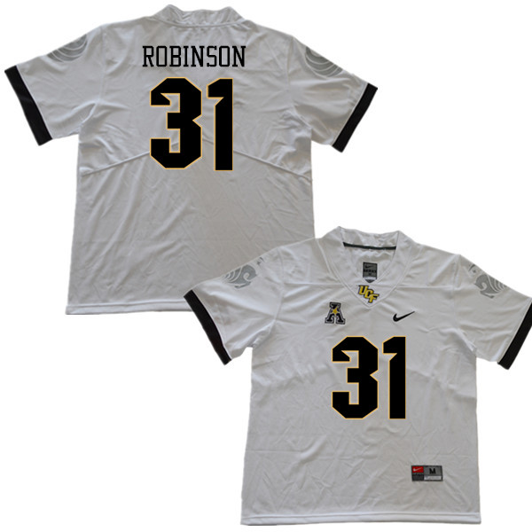 Men #31 Aaron Robinson UCF Knights College Football Jerseys Sale-White