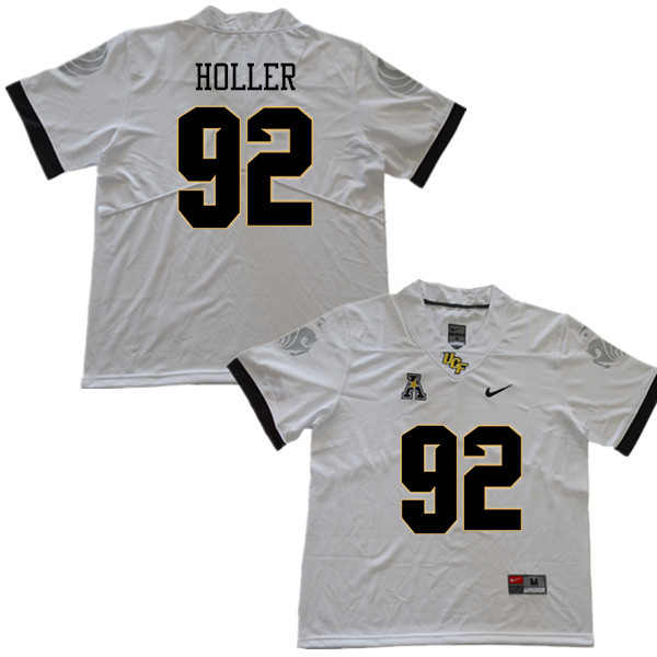 Men #92 Alec Holler UCF Knights College Football Jerseys Sale-White