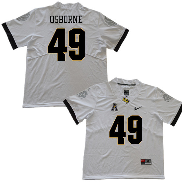 Men #49 Christian Osborne UCF Knights College Football Jerseys Sale-White