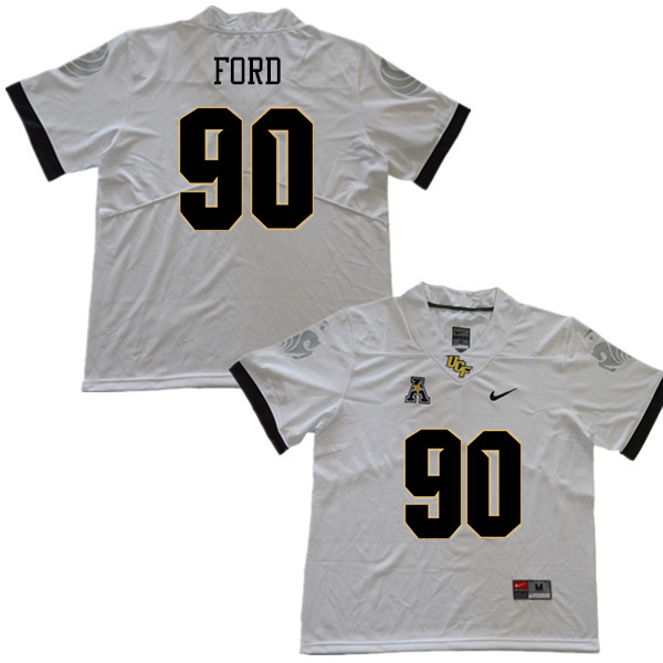 Men #90 Durand Ford UCF Knights College Football Jerseys Sale-White