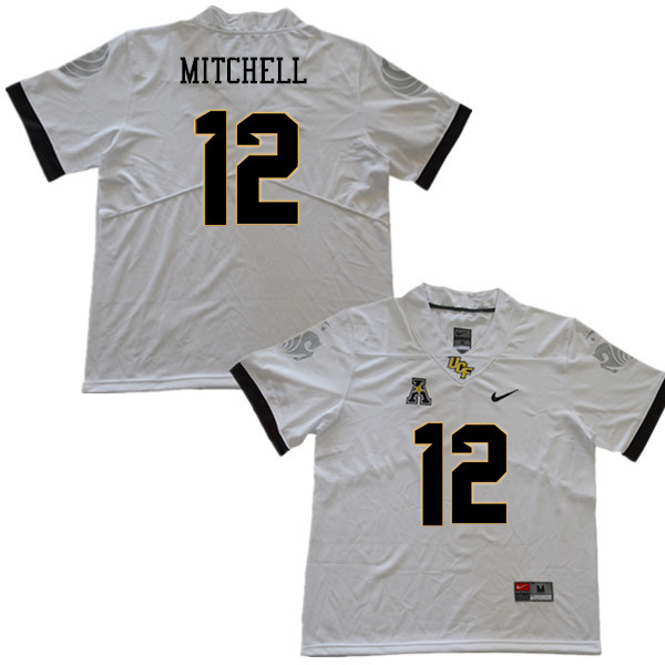Men #12 Eric Mitchell UCF Knights College Football Jerseys Sale-White