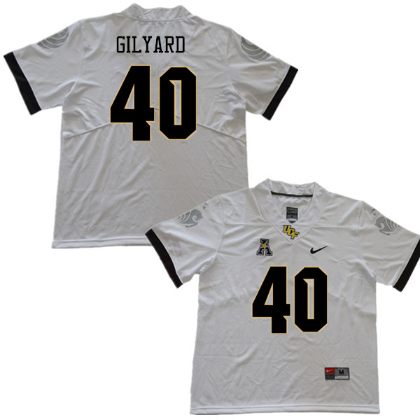 Men #40 Eriq Gilyard UCF Knights College Football Jerseys Sale-White
