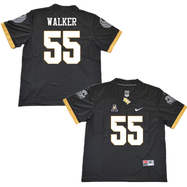 Men #55 Ike Walker UCF Knights College Football Jerseys Sale-Black