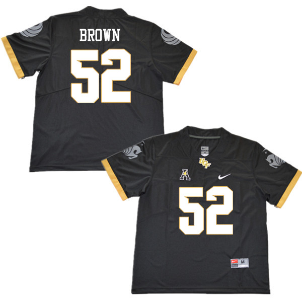 Men #52 Isaiah Brown UCF Knights College Football Jerseys Sale-Black