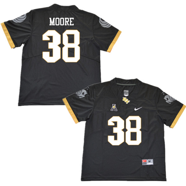 Men #38 Jonathan Moore UCF Knights College Football Jerseys Sale-Black