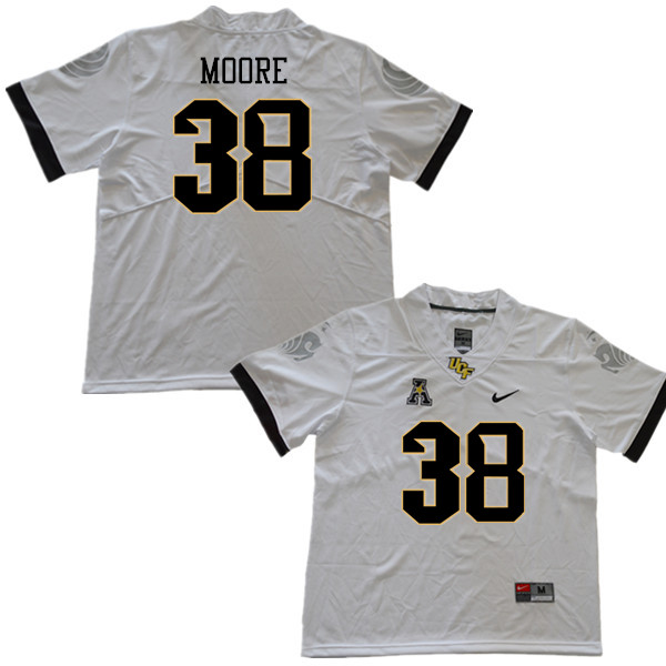 Men #38 Jonathan Moore UCF Knights College Football Jerseys Sale-White