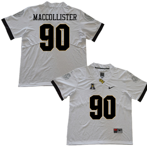 Men #90 Jonathon MacCollister UCF Knights College Football Jerseys Sale-White