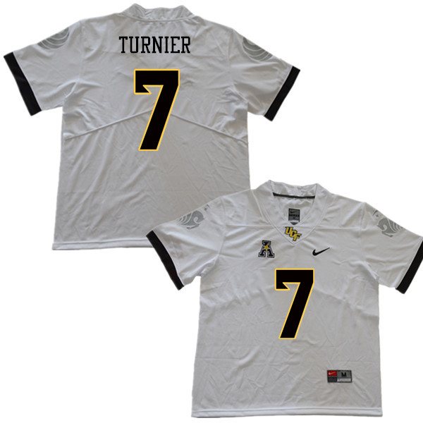 Men #7 Kenny Turnier UCF Knights College Football Jerseys Sale-White