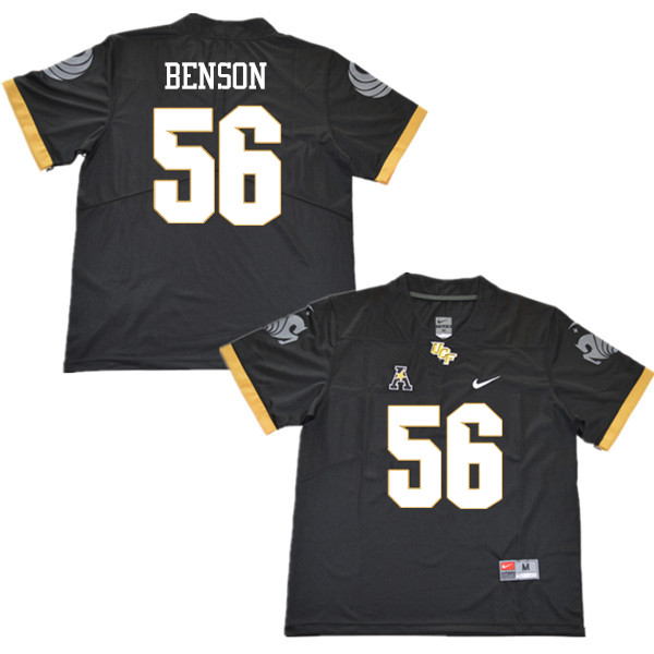 Men #56 Lamarius Benson UCF Knights College Football Jerseys Sale-Black
