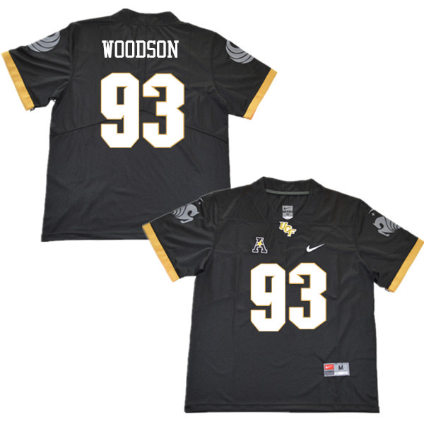 Men #93 Landon Woodson UCF Knights College Football Jerseys Sale-Black