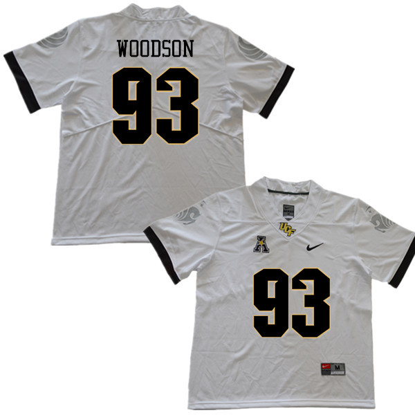 Men #93 Landon Woodson UCF Knights College Football Jerseys Sale-White