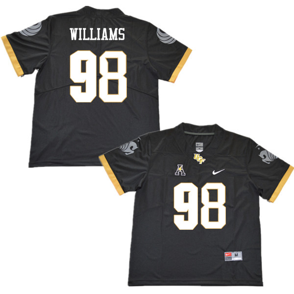 Men #98 Malcolm Williams UCF Knights College Football Jerseys Sale-Black