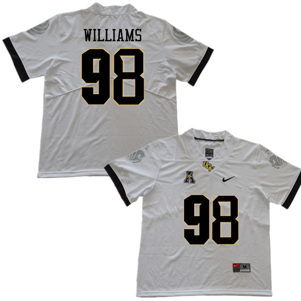 Men #98 Malcolm Williams UCF Knights College Football Jerseys Sale-White