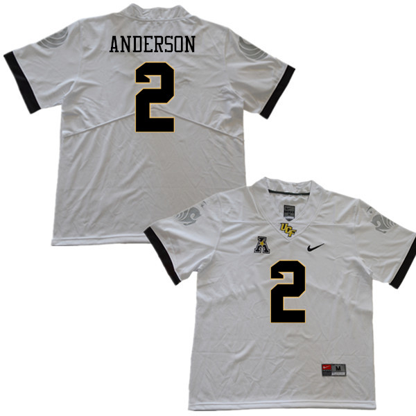 Men #2 Otis Anderson UCF Knights College Football Jerseys Sale-White