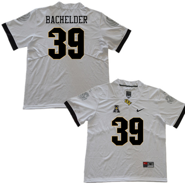 Men #39 Palmer Bachelder UCF Knights College Football Jerseys Sale-White