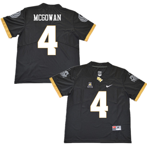 Men #4 Taj McGowan UCF Knights College Football Jerseys Sale-Black