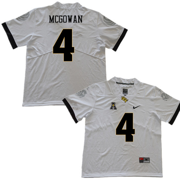 Men #4 Taj McGowan UCF Knights College Football Jerseys Sale-White