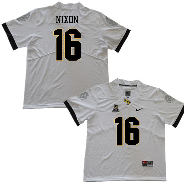 Men #16 Tre Nixon UCF Knights College Football Jerseys Sale-White