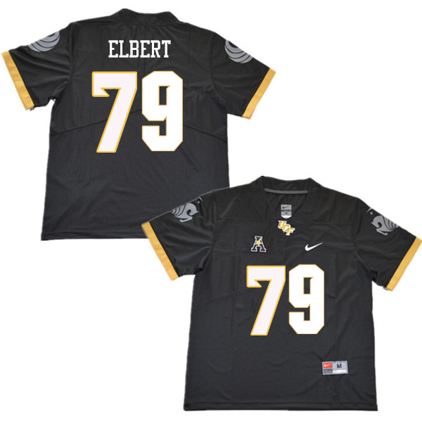 Men #79 Trevor Elbert UCF Knights College Football Jerseys Sale-Black