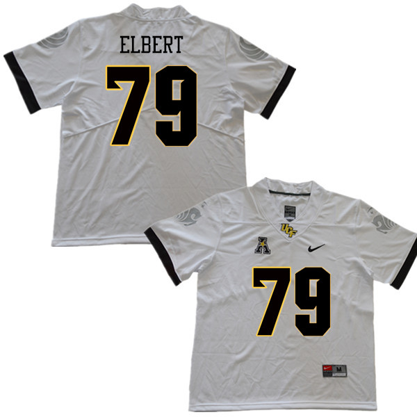 Men #79 Trevor Elbert UCF Knights College Football Jerseys Sale-White