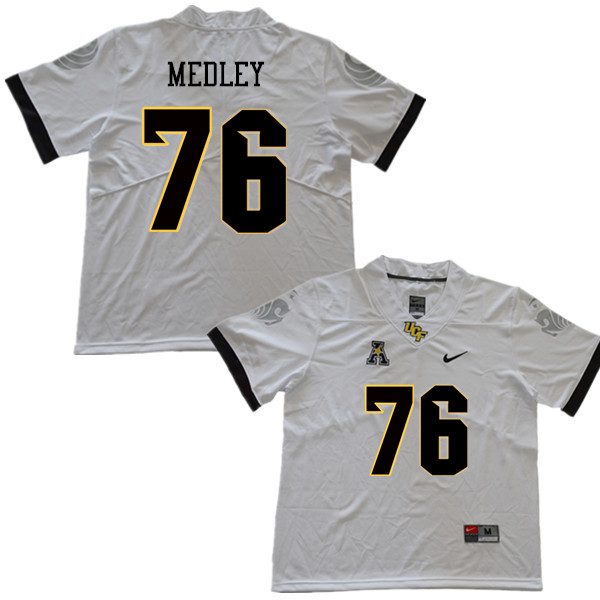 Men #76 Adrian Medley UCF Knights College Football Jerseys Sale-White