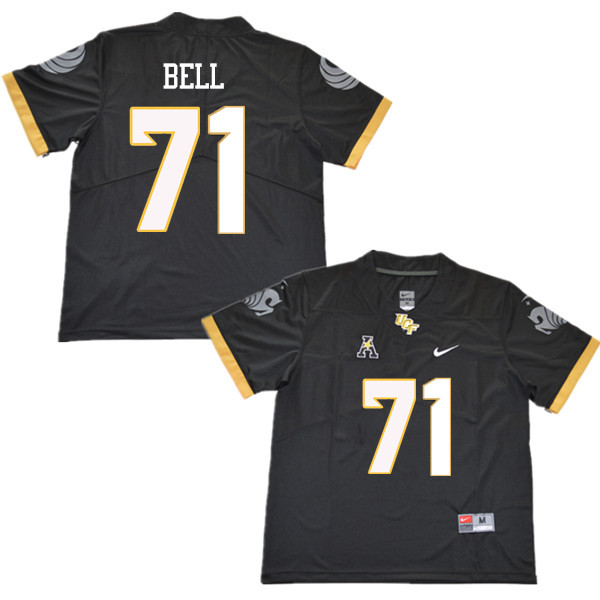 Men #71 Brett Bell UCF Knights College Football Jerseys Sale-Black