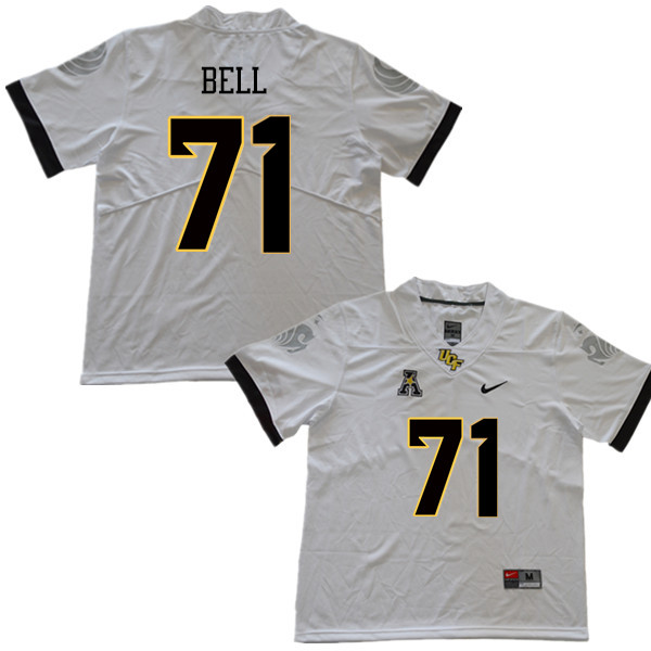 Men #71 Brett Bell UCF Knights College Football Jerseys Sale-White