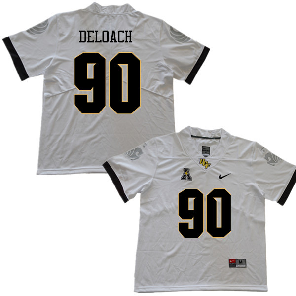 Men #90 Chris DeLoach UCF Knights College Football Jerseys Sale-White