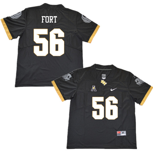 Men #56 Filippo Fort UCF Knights College Football Jerseys Sale-Black