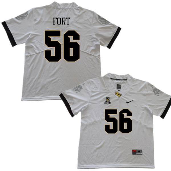 Men #56 Filippo Fort UCF Knights College Football Jerseys Sale-White