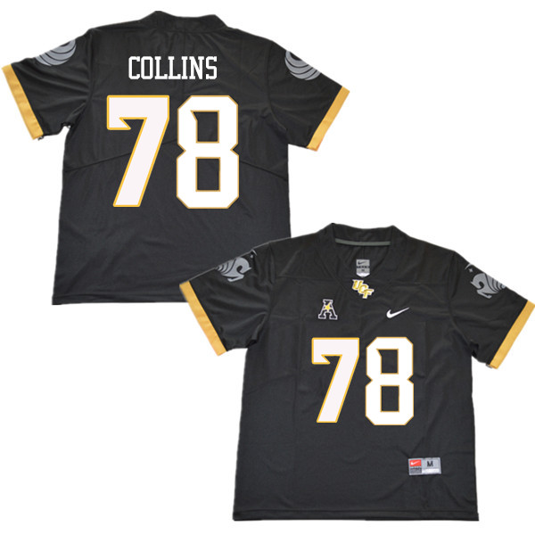 Men #78 James Collins UCF Knights College Football Jerseys Sale-Black
