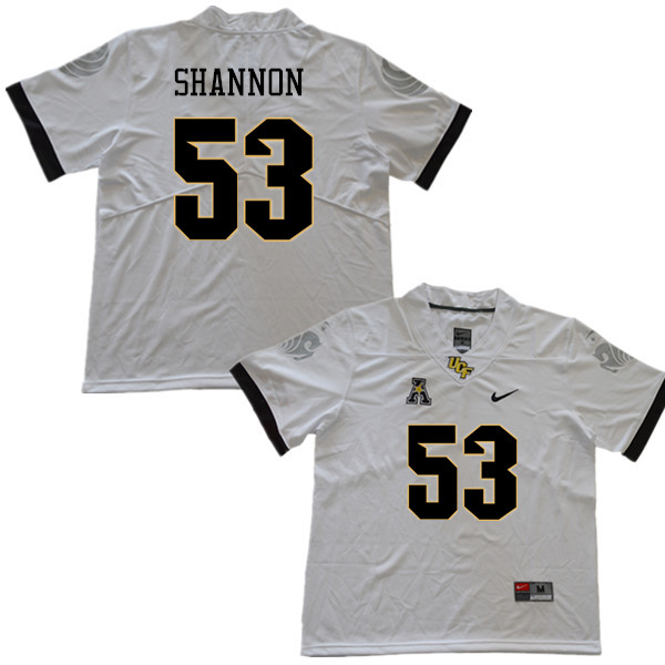 Men #53 Randy Shannon UCF Knights College Football Jerseys Sale-White