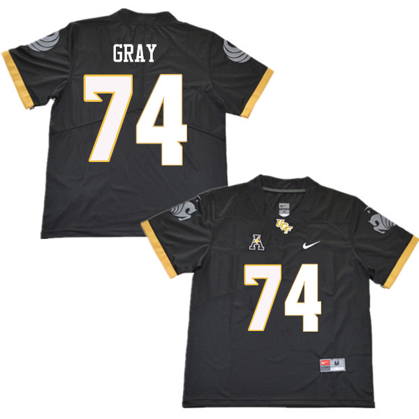 Men #74 Tony Gray UCF Knights College Football Jerseys Sale-Black