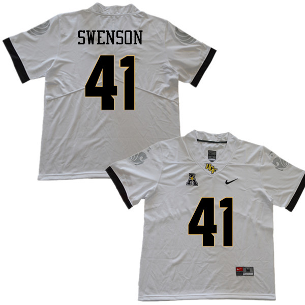 Men #41 Alex Swenson UCF Knights College Football Jerseys Sale-White