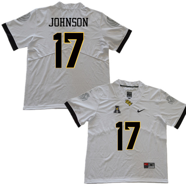 Men #17 Amari Johnson UCF Knights College Football Jerseys Sale-White
