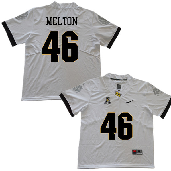 Men #46 Darius Melton UCF Knights College Football Jerseys Sale-White