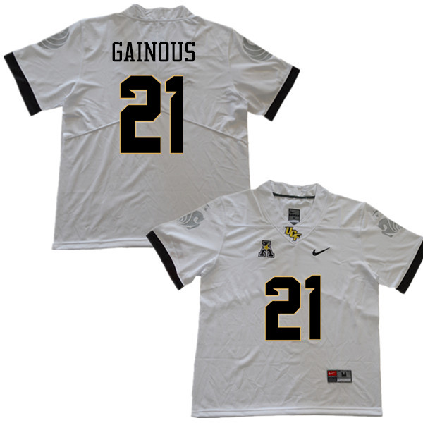 Men #21 Derek Gainous UCF Knights College Football Jerseys Sale-White