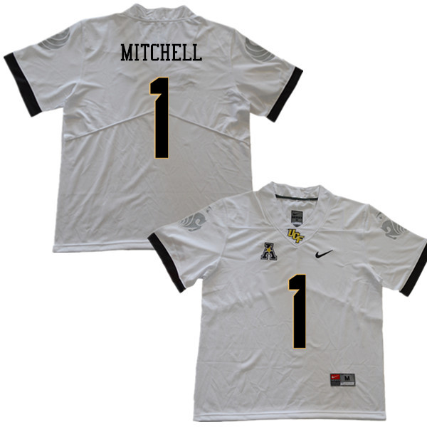 Men #1 Eric Mitchell UCF Knights College Football Jerseys Sale-White