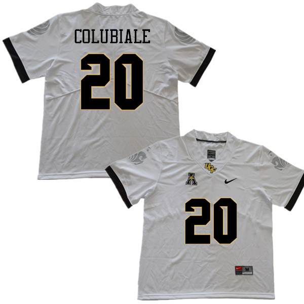 Men #20 Jason Colubiale UCF Knights College Football Jerseys Sale-White
