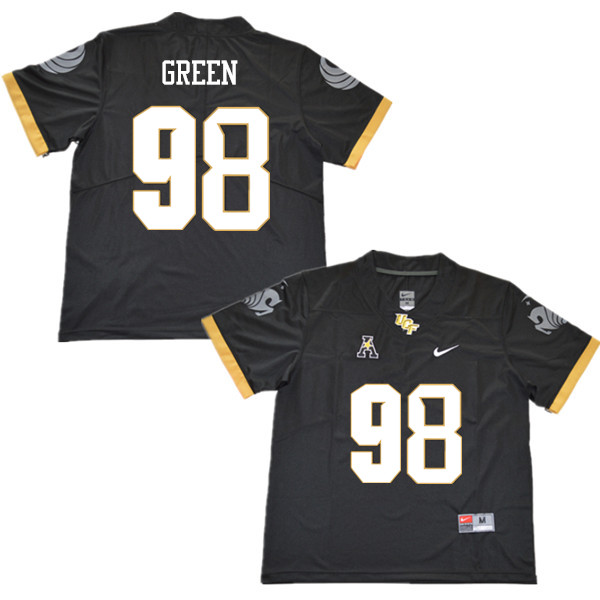 Men #98 Kam'ron Green UCF Knights College Football Jerseys Sale-Black