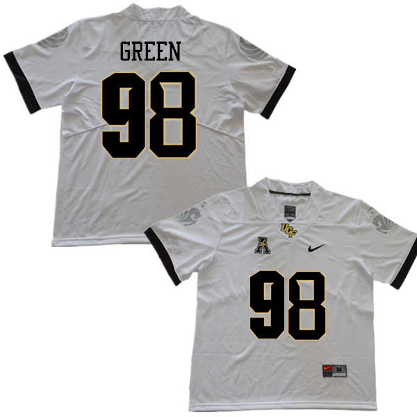 Men #98 Kam'ron Green UCF Knights College Football Jerseys Sale-White