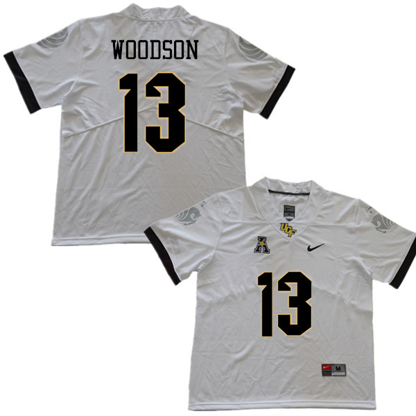 Men #13 Landon Woodson UCF Knights College Football Jerseys Sale-White