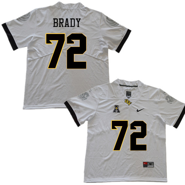 Men #72 Nate Brady UCF Knights College Football Jerseys Sale-White