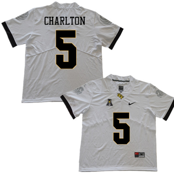 Men #5 Randy Charlton UCF Knights College Football Jerseys Sale-White