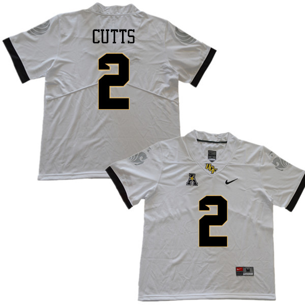 Men #2 Raymond Cutts UCF Knights College Football Jerseys Sale-White
