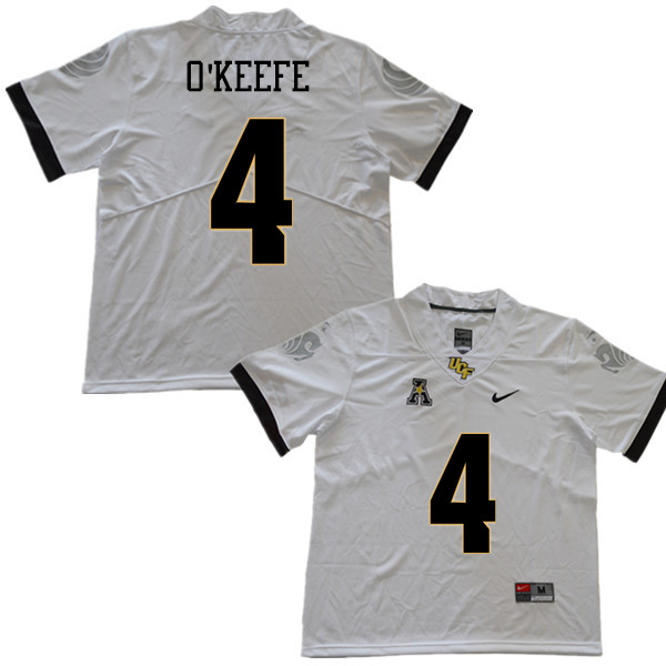 Men #4 Ryan O'Keefe UCF Knights College Football Jerseys Sale-White