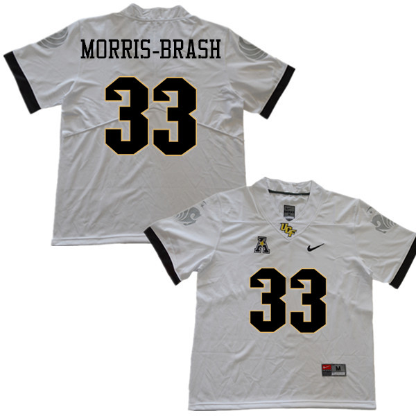 Men #33 Tre'mon Morris-Brash UCF Knights College Football Jerseys Sale-White