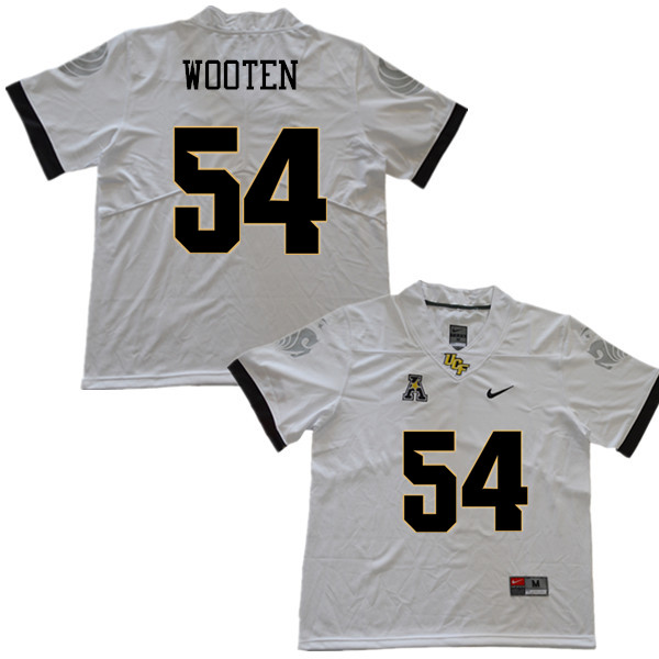 Men #54 A.J. Wooten UCF Knights College Football Jerseys Sale-White