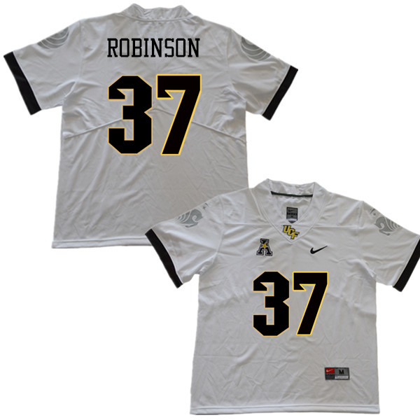 Men #37 Aaron Robinson UCF Knights College Football Jerseys Sale-White