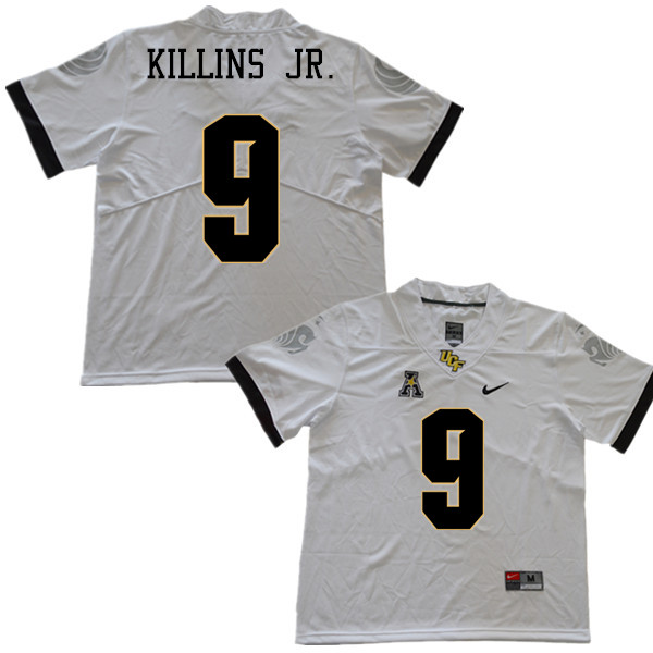 Men #9 Adrian Killins Jr. UCF Knights College Football Jerseys Sale-White